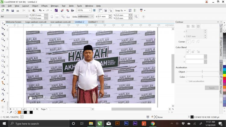 mengganti background foto di coreldraw