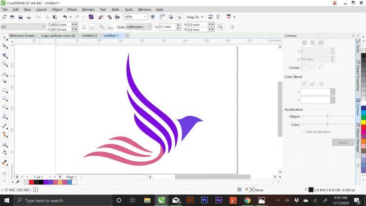 membuat logo di coreldraw